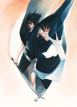 bleach: rukia: black butterfly by hhhwei