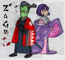 ZAGR_ Samurai Zim and Lady Gaz by JasmineAlexandra