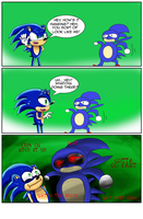 Sonic Meets Sanic by Archappor