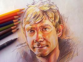 Martin Freeman by ermitanyongpalits