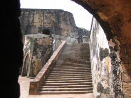 Fortress Staircase by Tusserte
