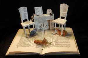 My Five Tigers Book Sculpture by wetcanvas