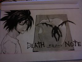 L Death Note Fanart by rotivsatierf