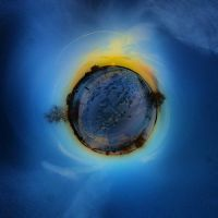 Little planet from frozen river by PsikusTatkin