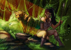 jungle friends inks by aberrantkitty - Color edjnr by Edjnr