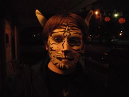 White Tiger Face Paint by wolfforce58