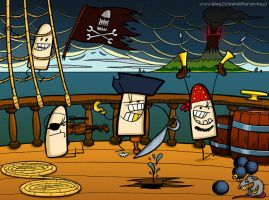 pirates of the suppository sea by paroovka