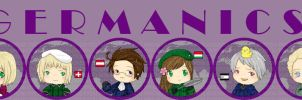 Hetalia Buttons -GERMANICS- by sirenlovesyou