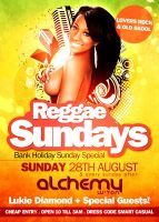 Reggae Sundays Flyer by danwilko