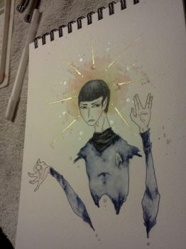 spock. by paintedmaru