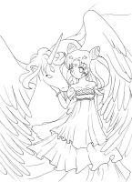 Chibiusa.Helios. Lineart by Ayasal