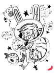 Day 01_INKTOBER 2015 [Space Sushi] by ONEIRI
