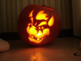 bowser pumpkin by moonpenguin