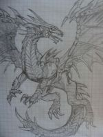 Spiked Dragon Sketch by 3wka