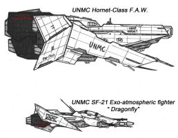 UNMC F.A.W. and Fighter by Malcontent1692