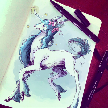 Pretty Unicorn by IzaPug
