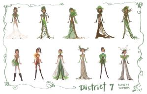 District 7 Style Sketches by bunnychan13