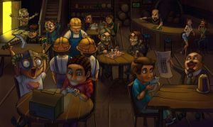 In tavern by Jahary
