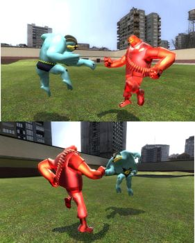 HEAVY V MACHAMP by impostergir007