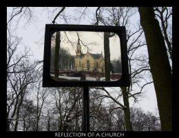 Reflection of a church by goldmines
