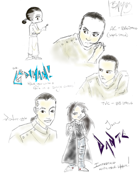 Brad Dourif sketches by BBMacToma