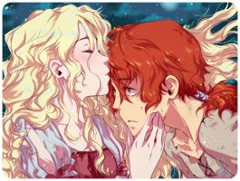 Auri and Kvothe by Seles-chan