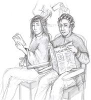 Snape + Sirius at hairdressers by Liliana-Claire