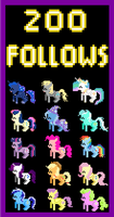 Retro Pony Pixels 200 Follows! by Zztfox