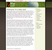 Z-ManGolf.com Interface by ipholio