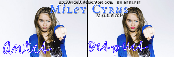 Miley Cyrus make up by StuffByDelf