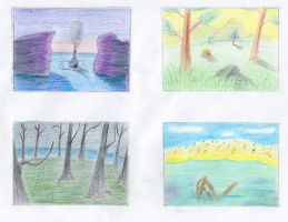 Color Storyboard Exteriors by GoldenEraFan