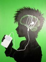 iPod On the Brain by Artemekiia