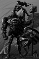 Superman: Steel BNW version by jurak