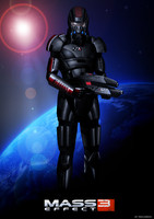 Mass Effect 3 Shepard (2011) by RedLineR91