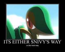 snivy motovational by alucardserasfangirl