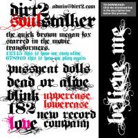 Dirt2 SoulStalker Free Font by KeepWaiting