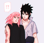 SasuSaku Color by sakubabe