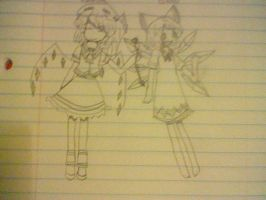 flandre and cirno by ashaboonk