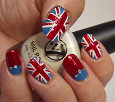 Union Jack Nails by Ithfifi