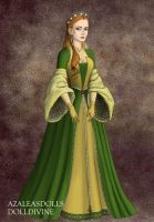 Adoptables: Medieval Green/yellow princess by SeitoAnna