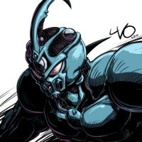 Digital Sketch Warm Up 05 - Guyver by Vostalgic