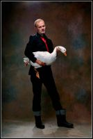 Male with a large bird by JREKAS