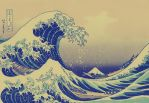 hokusai The Great Wave by jllnjlln