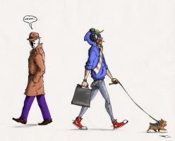 Rorschach Dislikes Hipsters by RobtheDoodler