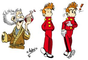 Inking - Spirou by xAndyLG