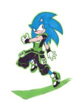 Green Lantern Sonic by Knuczema-the-Echidna