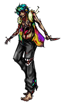 RAINBOW GORE Mascot Entry by DragonsDwelling