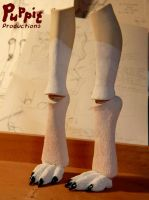 W.I.P: Firefox BJD - fox feet by PuppitProductions
