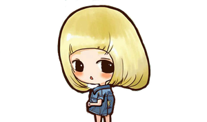 SNSD Taeyeon I Got A Boy Chibi ~PNG~~ by JaslynKpopPngs