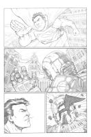Superman Vs Robot Page 2 by anthonymarques